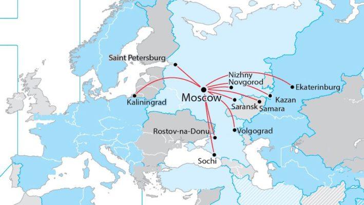 Wm 2018 Spielorte Karte.Aeroflot Map Crop E1512043039638 Business Traveller