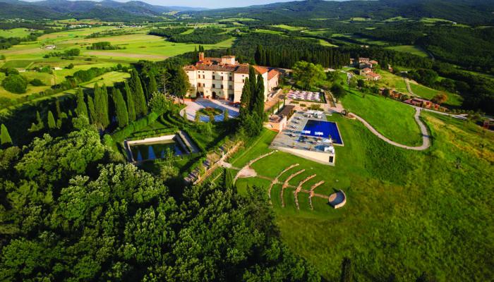 Das Schlosshotel Castello di Casole zwischen Florenz und Siena. Foto: Belmond