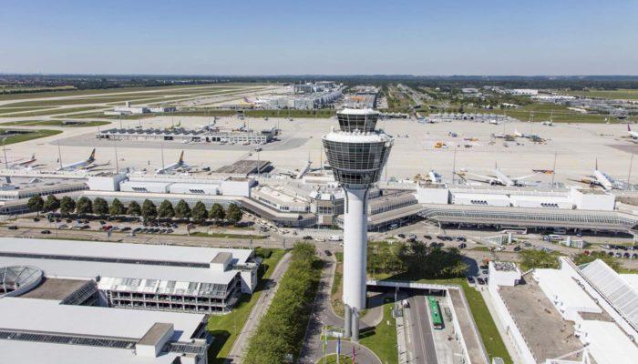 Der Flughafen München von oben. Foto: Flughafen München