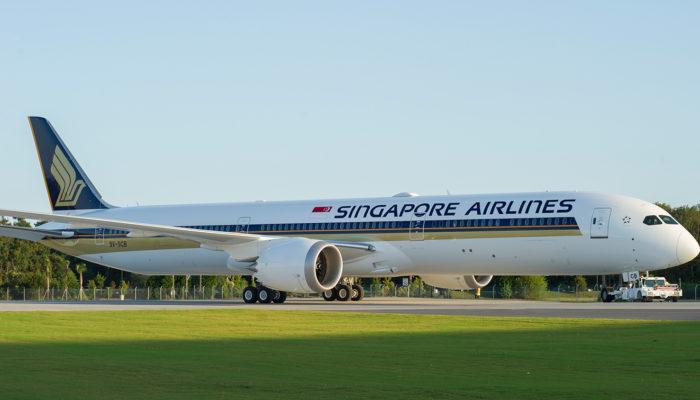 Die erste Boeing 787-10 von Singapore Airlines. Foto: Singapore Airlines