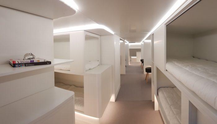 So sehen die Schlafmodule aus. Foto: Airbus