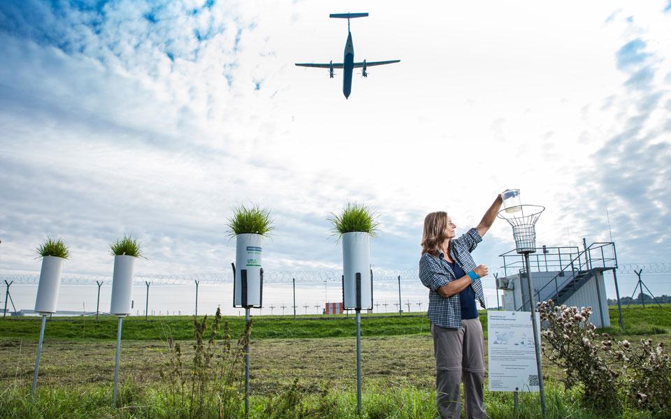 Biomonitoring mit Flugzeugüberflug