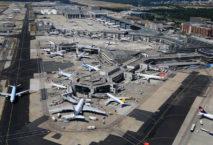 Flughafen Frankfurt von oben