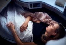 Schlafsitze auch auf kontinentalen Flügen. Foto: Air Canada