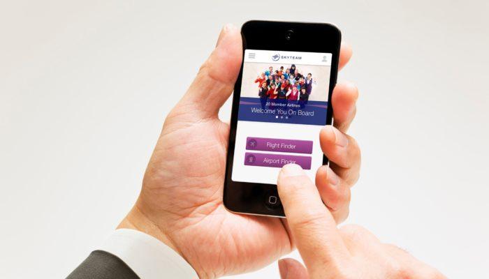Die Skyteam-App mit interaktiven Flughafenkarten. Foto: Skyteam