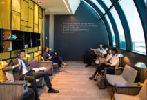 Die neue Star Alliance Lounge am Flughafen Rom-Fiumicino. Foto: Star Alliance