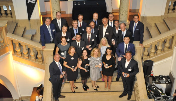 Die glücklichen Sieger der BUSINESS TRAVELLER Awards 2018. Foto: Andreas Meinhardt