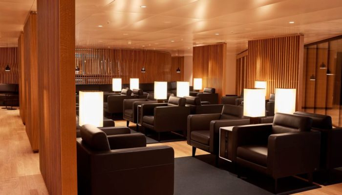 Die neue Lounge am Flughafen Zürich. Foto: Swiss