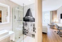 Badezimmer im neuen NH Graz City.