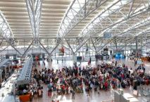 Abflugterminal am Flughafen Hamburg