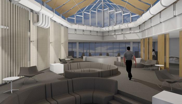 Airport Lounge World im Non-Schengen-Bereich von Terminal 1 des Münchner Flughafens