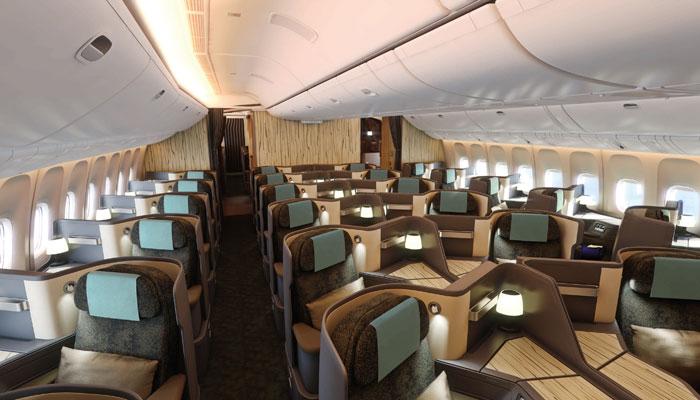 Die Business Class in der Boeing 777-300ER der China Airlines. Foto: PR