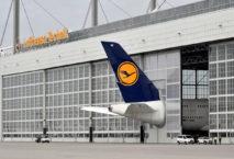 der Airbus A380 der Lufthansa am Münchner Flughafen. Foto: Flughafen München/Alex Tino Friedel