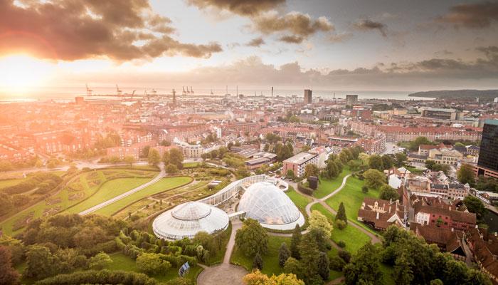 Aarhus Stadtblick von oben