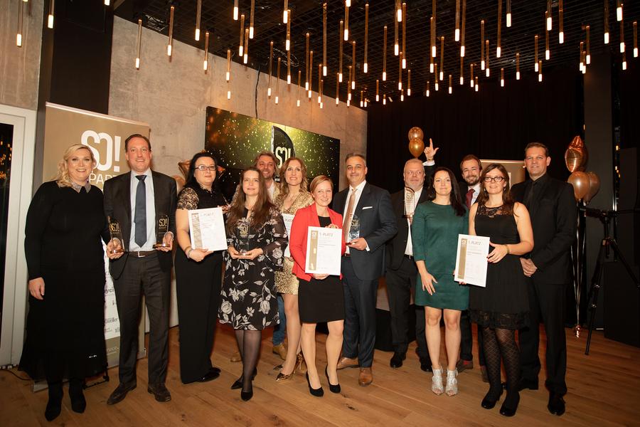 Die Gewinner der SO!APART AWARDS 2018; Foto: © Julia Baumgart, Apartmentservice