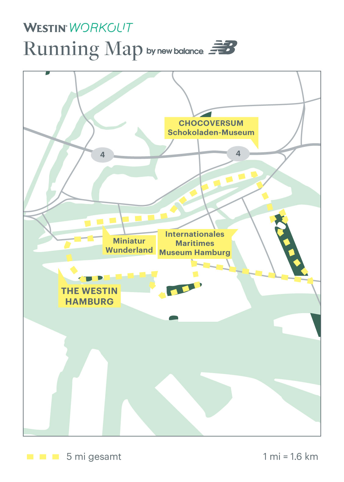 Running Map von The Westin Hamburg