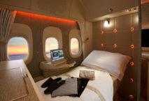 die Suite in der First Class bei Emirates. Foto: Emirates