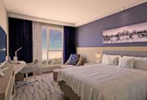 Zimmer im neuen Hampton by Hilton Frankfurt Airport; Foto: Hampton by Hilton