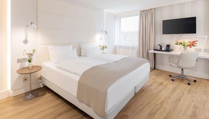 Zimmer im neuen NH Mannheim; Foto: NH Hotel Group