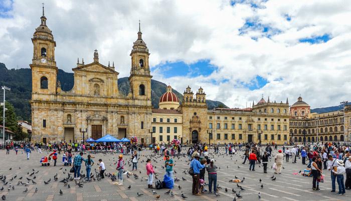 Die Plaza de Bolívar in Bogotá. Foto: iStock.com/Starcevic