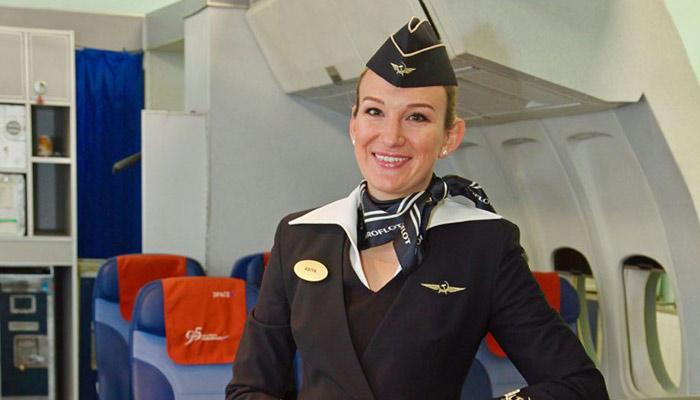 Flugbegleiterin Ayisha Aeroflot; Foto: Aeroflot