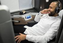 Passagier in der Club Suite bei British Airways; Foto: British Airways