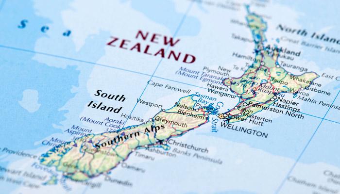 Karte Neuseeland; Foto: iStock.com/omersukrugoksu