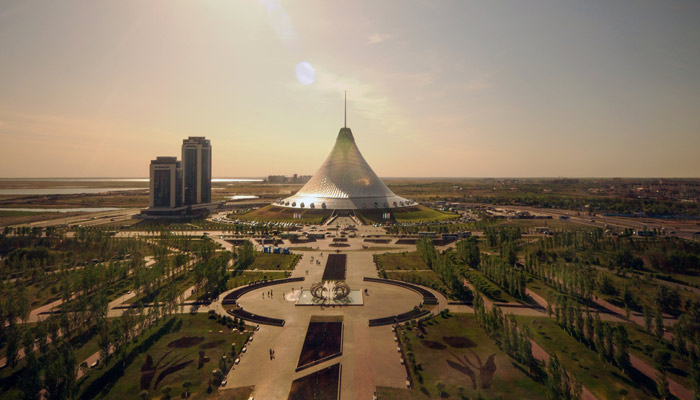 Hauptstadt Kasachstans von oben; Foto: iStock.com/Rafael Wiedenmeier