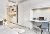 Zimmer im neuen H.omes Serviced Apartments München. Foto: H-Hotels.com