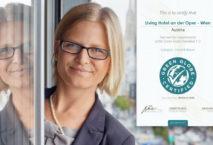 Hoteldirektorin Fiona Machovits freut sich über die Zertifizierung von Green Globe. Foto: Living Hotels