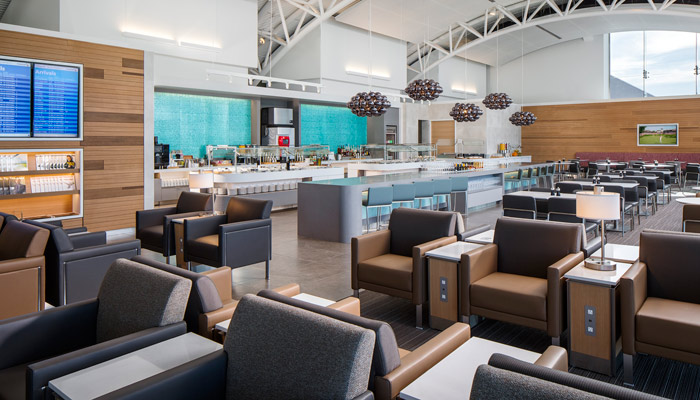 Flagship-Lounge von American Airlines am Flughafen Los Angeles. Foto: American Airlines