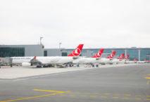 Neuer Heimat-Hub: Maschinen der Turkish Airlines am neuen Großflughafen Istanbul. Foto: Turkish Airlines