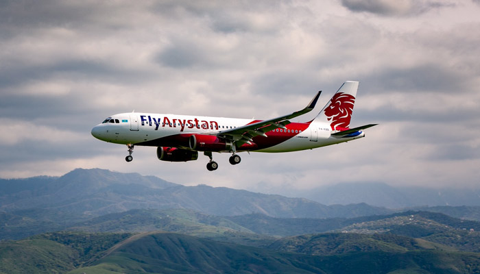 Maschine der Low-Cost-Airline FlyArystan. Foto: FlyArystan/Yelena Sergiyenko