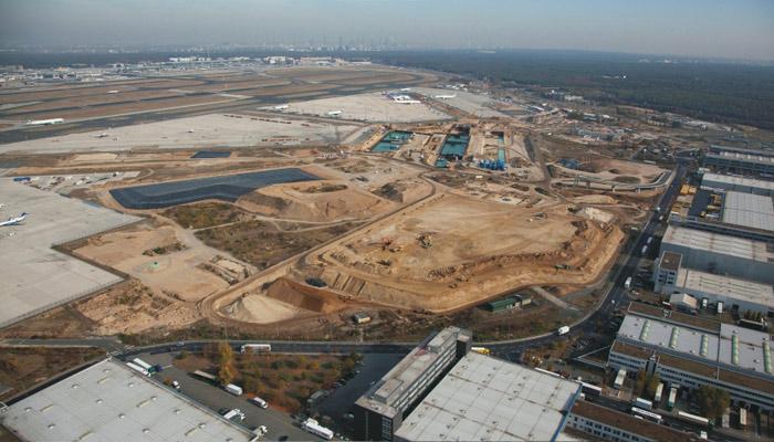 In Bau: Terminal 3 des Flughafens Frankfurt. Foto: Fraport AG