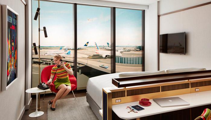 TWA Hotel am Flughafen JFK in New York. Foto: TWA Hotel