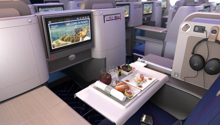 Die Business Class der Brussels Airlines in der A330-300. Foto: PR