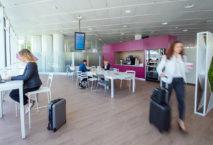 So sieht sie aus, die erste Lounge der Eurowings am Münchner Flughafen. Foto: Eurowings