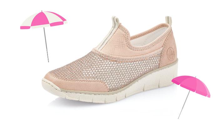 Sommer für die Füße: die Athletik-Sneakers von Rieker. Foto: PR; iStock.com/DragonTiger