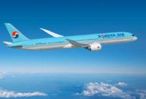 So sieht sie aus: die Boeing 787-10 mit Korean-Air-Lackierung. Foto: Korean Air