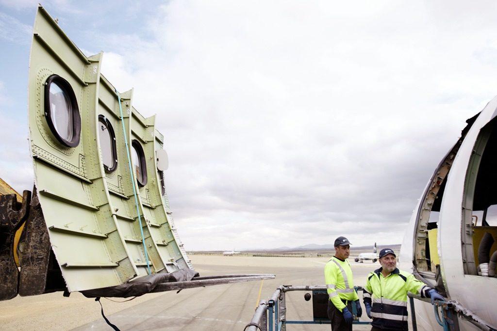 Der stillgelegte Lufthansa Airbus wurde im spanischen Teruel in zehn Wochen fachgerecht zerlegt. Foto: Miles & More GmbH