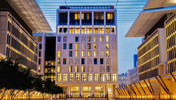 Außenansicht Fassade Mandarin Oriental Doha; Foto: Mandarin Oriental Doha