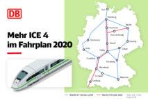 Züge auf wichtigen ICE-Verbindungen. Grafik: DB AG