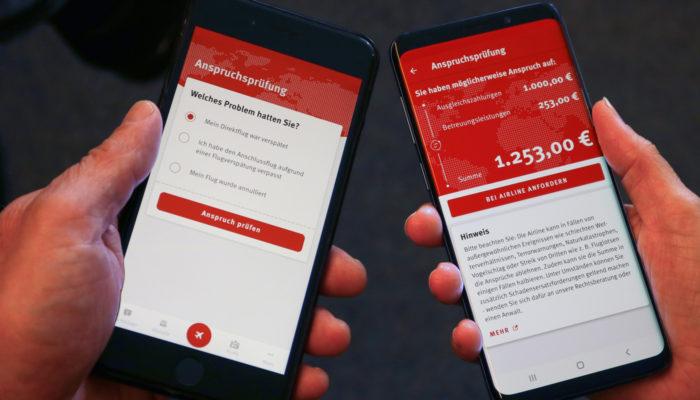 Flugärger-App auf dem Smartphone; Foto: Verbraucherzentrale NRW