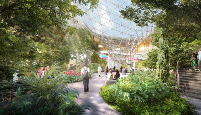 Tropischer Garten am Hamad International Airport; Foto: Qatar Airways