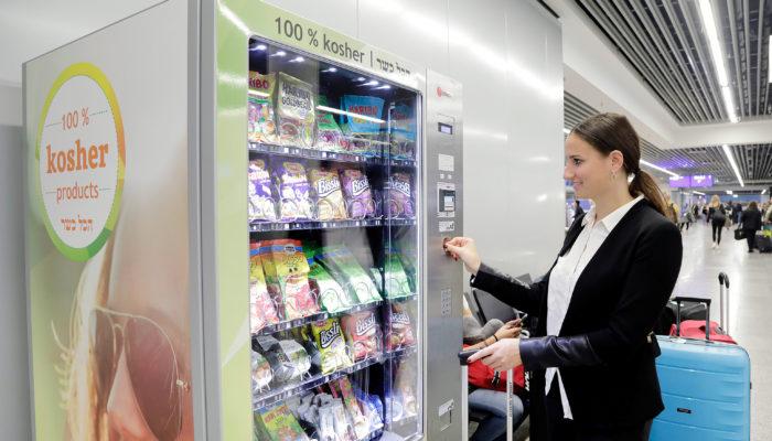To go: Der Lebensmittel-Automat mit koscheren Snack am Fraport. Foto: Flughafen Frankfurt