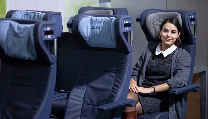 So sehen sie aus, die neuen ICE-Sitze. Foto: Deutsche Bahn AG /Oliver Lang
