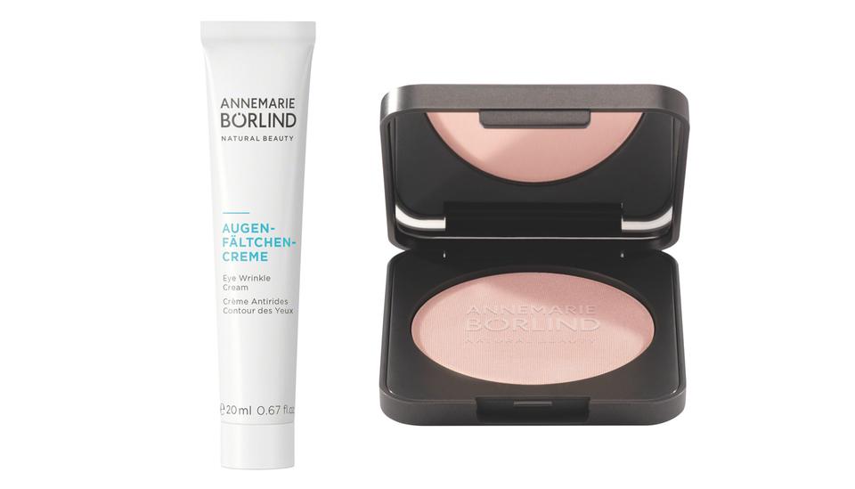 Highlight Puder Glow und Augen-Fältchen-Creme von Annemarie Börlind