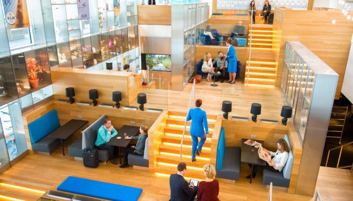 Die Crown Lounge im Non-Schengen-Bereich am Amsterdamer Flughafen Schiphol. Foto: KLM Royal Dutch Airlines