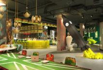 """Eines der ikonischsten Elemente in der Lobby ist der Raketenstart der """"Big Ben"""" – Skulptur. Foto: Project Orange"""