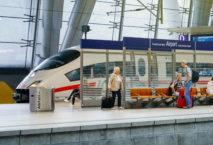 ICE am Bahnhof Frankfurt Airport; Foto: iStock.com/AdrianHancu